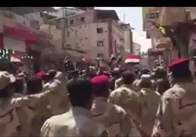 عراقی فوج کی آیت اللہ سیستانی کی حمایت میں ریلی