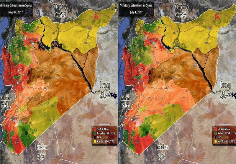 تطورات سوریا مقایسة