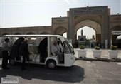 جابهجائی زائران از پارک سوارهای اطراف حرم رضوی با 18 دستگاه زائربر