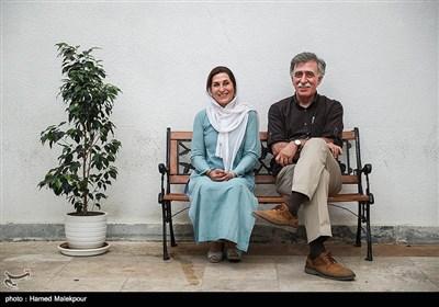 همایون اسعدیان و فاطمه معتمد آریا در پایان نشست خبری هیئت مدیره خانه سینما