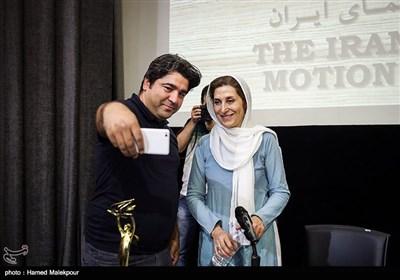 فاطمه معتمد آریا عضو هیئت مدیره خانه سینما در پایان نشست خبری