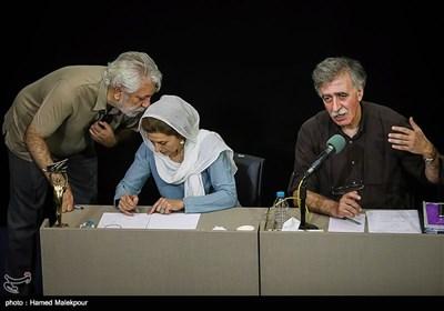 همایون اسعدیان رئیس و فاطمه معتمد آریا عضو هیئت مدیره خانه سینما در نشست خبری