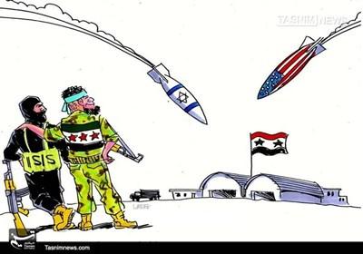 کاریکاتور/ آمریکا و اسرائیل؛ حامیان داعش