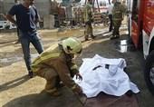 محرز شدن مرگ یک نفر در آتشسوزی گسترده کارخانه تولید مواد شیمیایی/ عملیات ادامه دارد