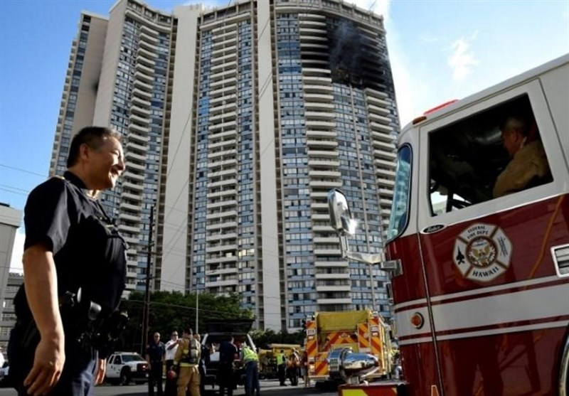 آتش سوزی برج هونولولو