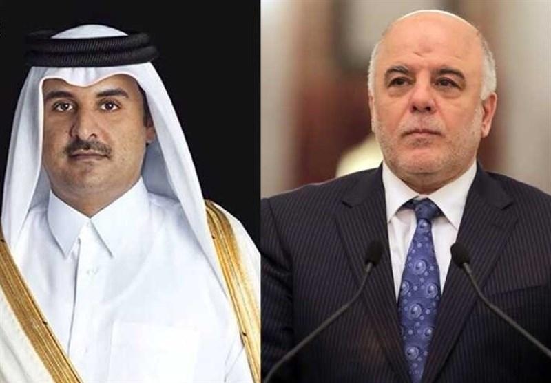 أمیر قطر للعبادی: مستعدون للوقوف معکم ودعمکم
