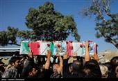 پیکر مطهر دو شهید مدافع حرم در قم تشییع شد