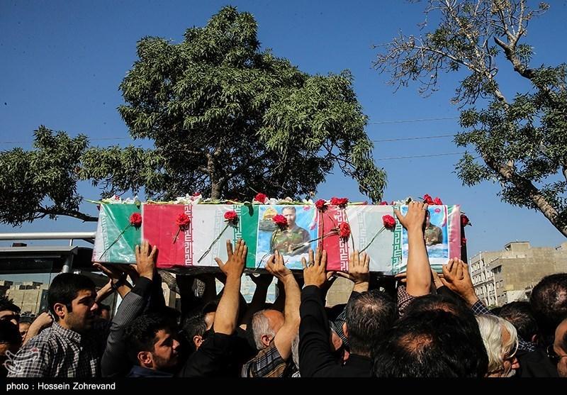 مراسم تشییع شهید مدافع حرم بهرام مهرداد