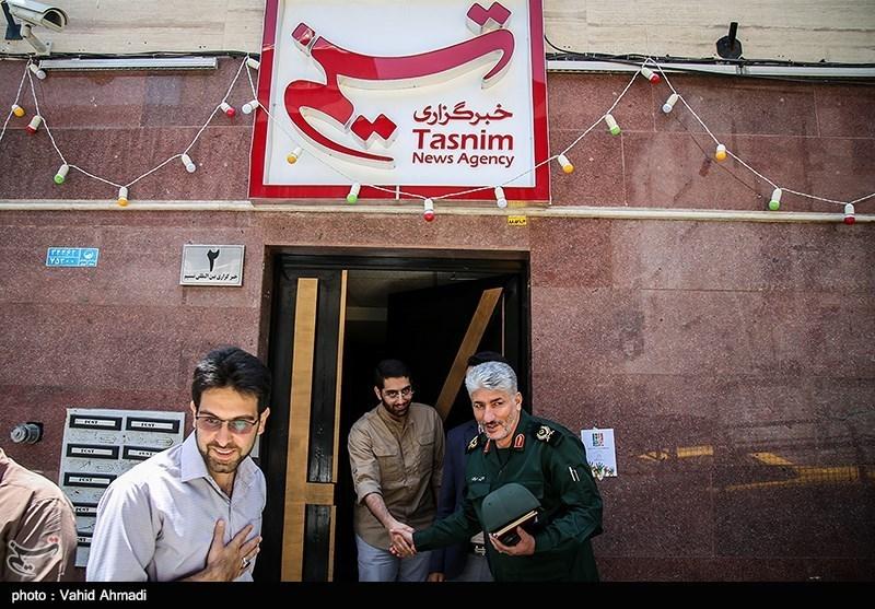 بازدید سردار مهربان از خبرگزاری تسنیم