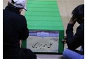 وداع با پیکر مطهر 2 شهید فاطمیون در معراج شهدا+ عکس