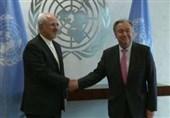 ظریف با دبیرکل سازمان ملل دیدار و گفت و گو کرد