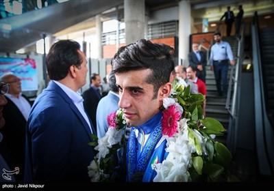 ورود کاروان ورزشی کاراته، قهرمان آسیا به تهران