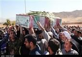 مراسم تشییع و تدفین شهید گمنام در پادگان شهید پازکی