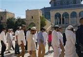 یورش دهها شهرکنشین صهیونیست به مسجدالاقصی