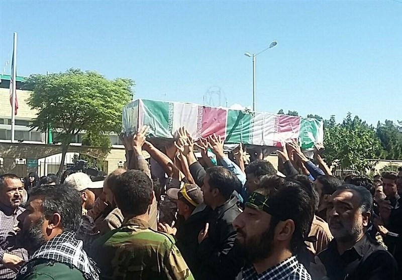 پیکر شهیدان علیبهار و علیپور در اهواز تشییع شد