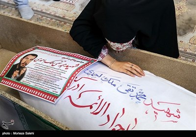 مراسم وداع با پیکر شهدای احراز هویت شده در اصفهان