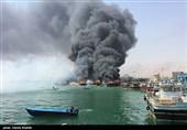 بوشهر  آتشسوزی در اسکله کنگان؛ 3 لنج آتش گرفت
