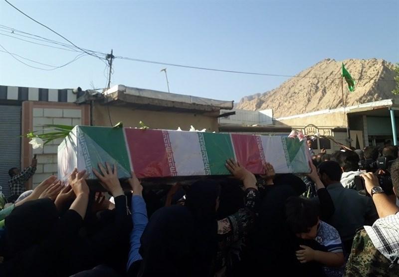 تشییع 3 شهید گمنام در ابوالعباس باغملک