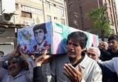 تشییع پیکر غواص شهید در اهواز