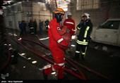 آتش سوزی هتل در حال ساخت - مشهد