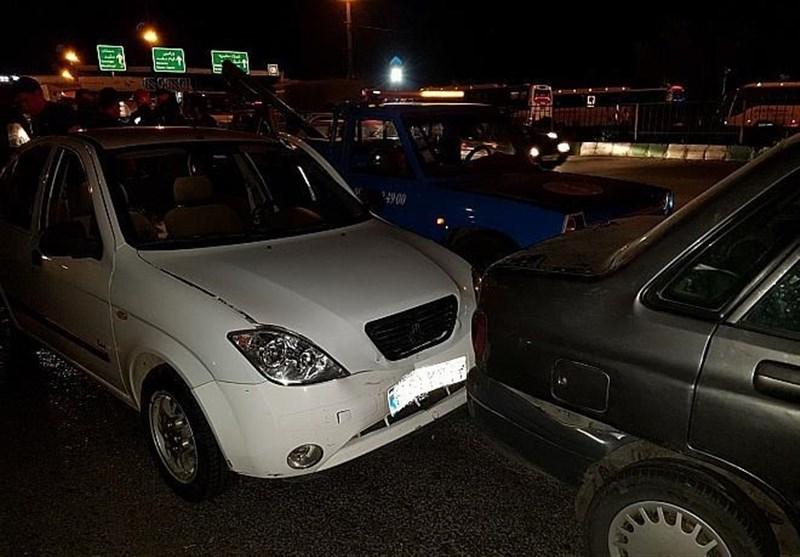 تصادف 6 خودرو در جاده خاوران