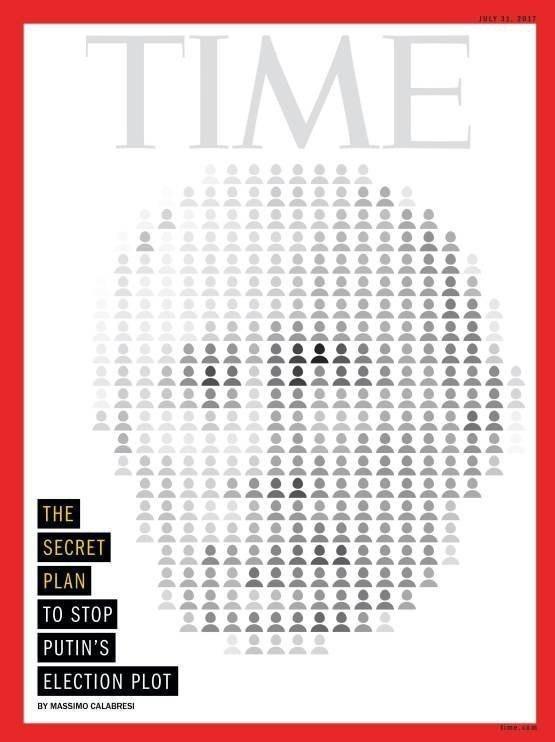 تصویر پوتین روی جلد مجله «تایم»+عکس