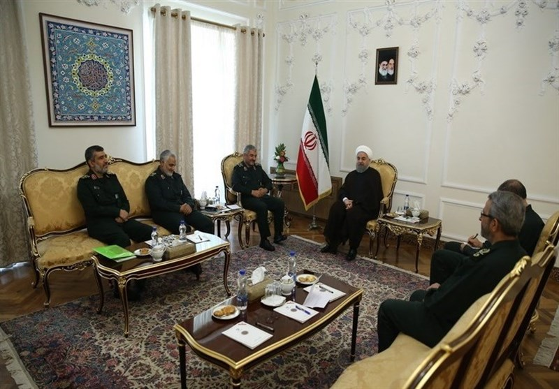 President Rouhani Underlines Administration's Support for IRGC Services