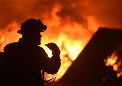 آتشسوزی گسترده انبار 3 هزار متری چوب در خلازیر/ جلوگیری از انفجار 40 سیلندر گاز
