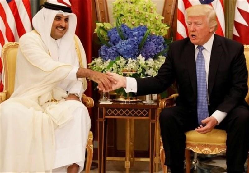 ترامب و أمیر قطر