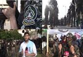 رزمایش اقتدار گردانهای فلسطینی در خیابانهای غزه؛ مسجدالاقصی تنها نیست+ فیلم