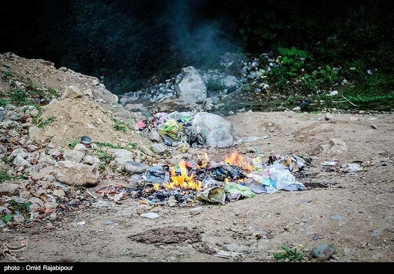 دپوی زباله در محور هراز در حال انفجار است