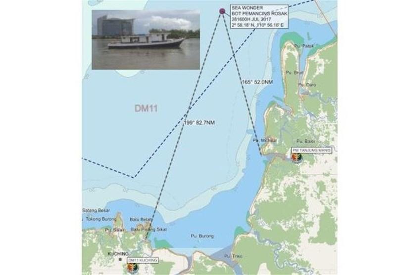 مفقودشدن یک قایق ماهیگیری با 15 سرنشین
