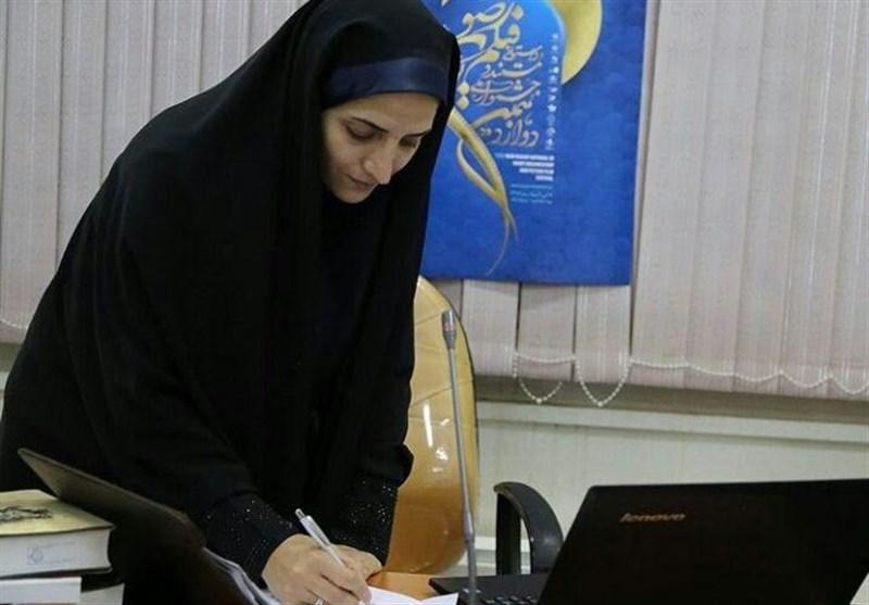 فاطمه شریفی دبیر اطلاع رسانی جشنواره فیلم کوتاه رضوی یزد