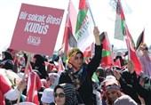 """خشم هزاران ترکیهای از دولت نتانیاهو در """"ینیکاپی"""" استانبول"""