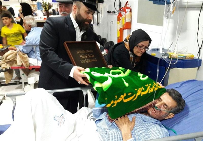 بازدید خادمان حضرت فاطمع معصومه از بیماران کاشانی