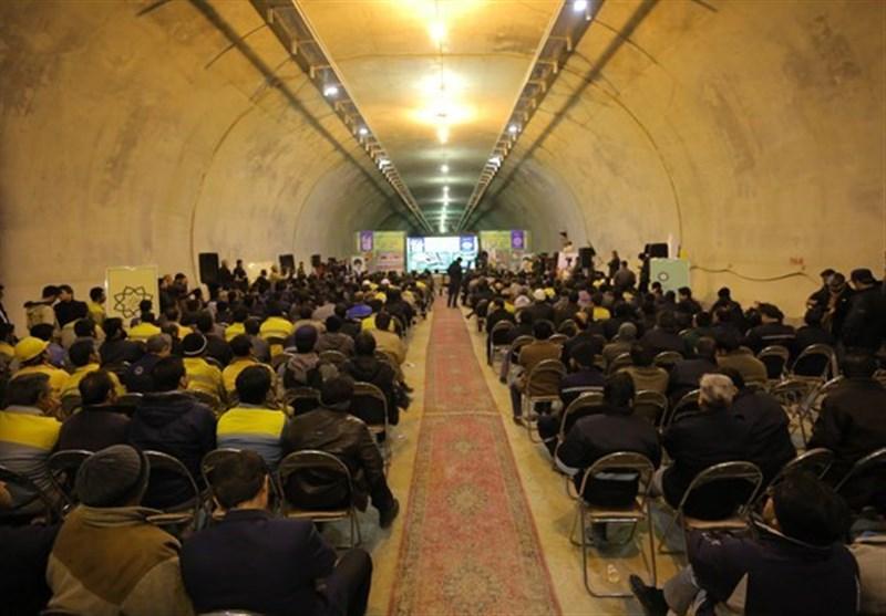 """بلدیة طهران تفتتح نفق """"شهداء غزة"""""""
