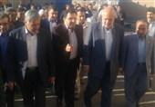پروژه احداث خط انتقال آب خروجی از تصفیهخانه آب به شهر گرمسار افتتاح شد+عکس