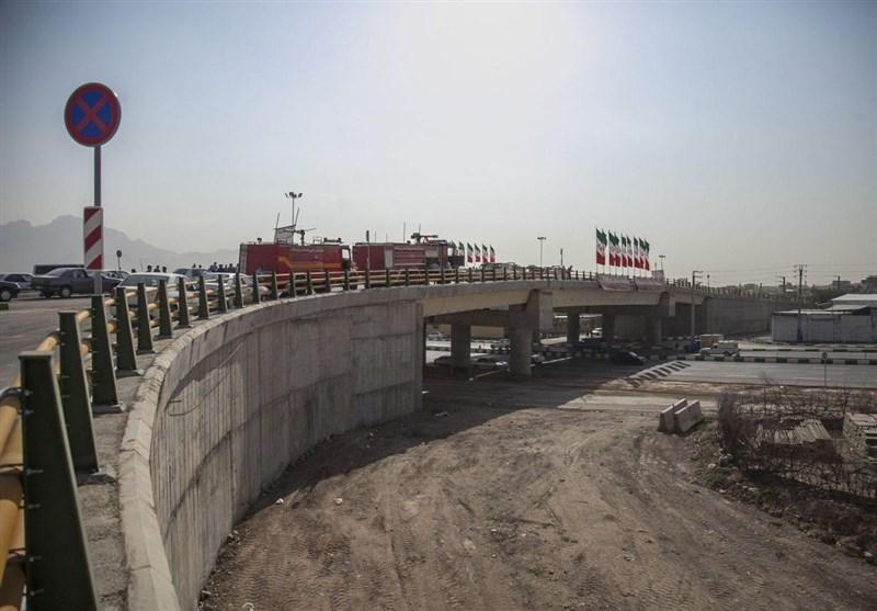 تقاطع غیرهمسطح «شهدای مدافع حرم» کرمانشاه افتتاح شد