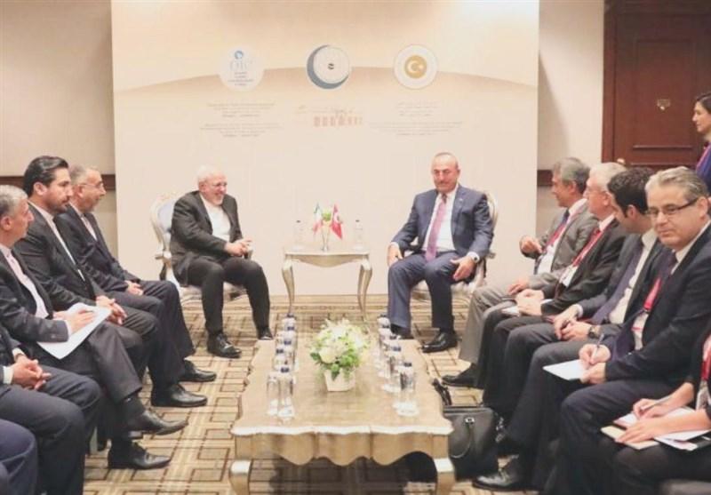 بدء الجلسة الختامیة لاجتماع اسطنبول بمشارکة وزراء خارجیة ایران والسعودیة وترکیا