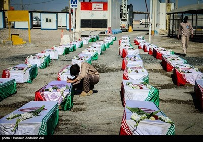 ورود پیکر 48 شهید تازه تفحص شده -شلمچه