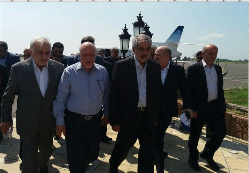 وزیر نفت در ساری