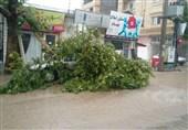 بارش شدید باران و آبگرفتگی معابر و جادهها در شرق استان گلستان+تصاویر
