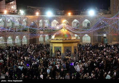 Holy Mausoleum Lit Up on Eve of Imam Reza Birthday Anniversary
