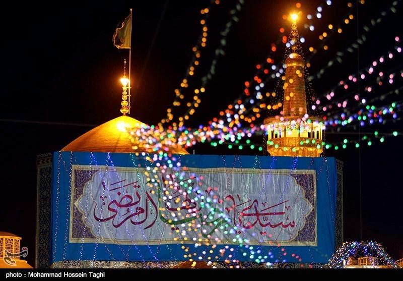 حرم رضوی غرق در شادمانی؛ نقارهها عید سعید غدیر را بشارت دادند