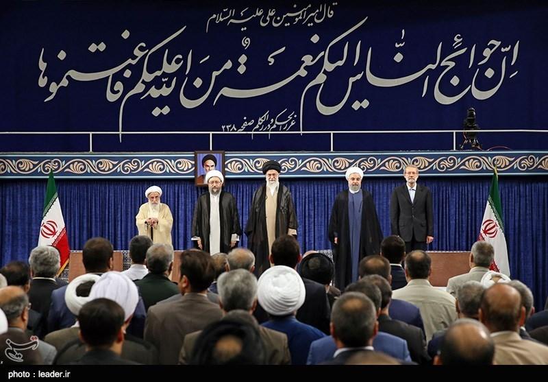 حضور مقامات کشوری و لشکری در مراسم تنفیذ حسن روحانی+ تصاویر