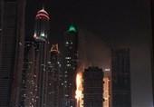 بزرگترین برج مسکونی جهان طعمه حریق شد+فیلم و عکس