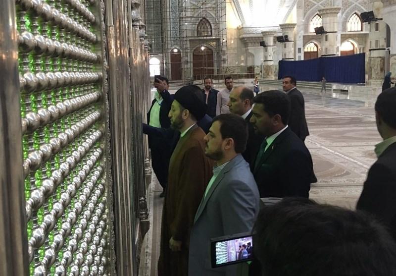 عمار حکیم کی امام خمینی (رہ) کی زیارت پر حاضری