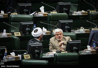 گفتوگوی محمدرضا عارف با احمد مازنی در جلسه علنی مجلس شورای اسلامی