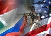 پرچم آمریکا و روسیه