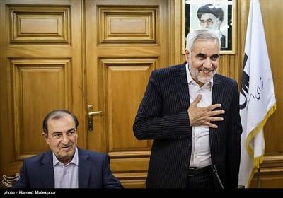 محسن مهرعلیزاده و مرتضی الویری در جلسه منتخبین پنجمین دوره شورای شهر برای انتخاب شهردار تهران
